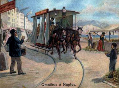 un omnibus a Napoli (figurina liebig)